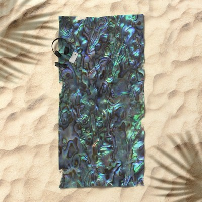 Abalone Shell, Paua Shell, beach towels by Eclectic at HeART