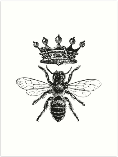 Queen Bee art print by Eclectic at HeART
