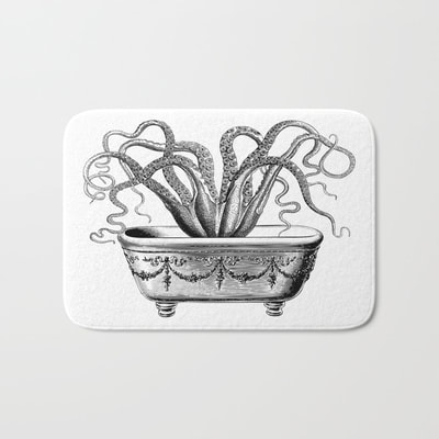 Tentacles in the Tub bath mats by Eclectic at HeART