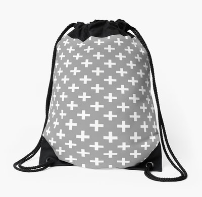 Cross Pattern drawstring bag by Eclectic at HeART