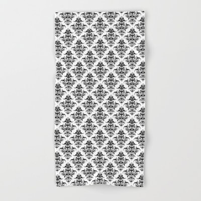 Damask Pattern bath and hand towels by Eclectic at HeART