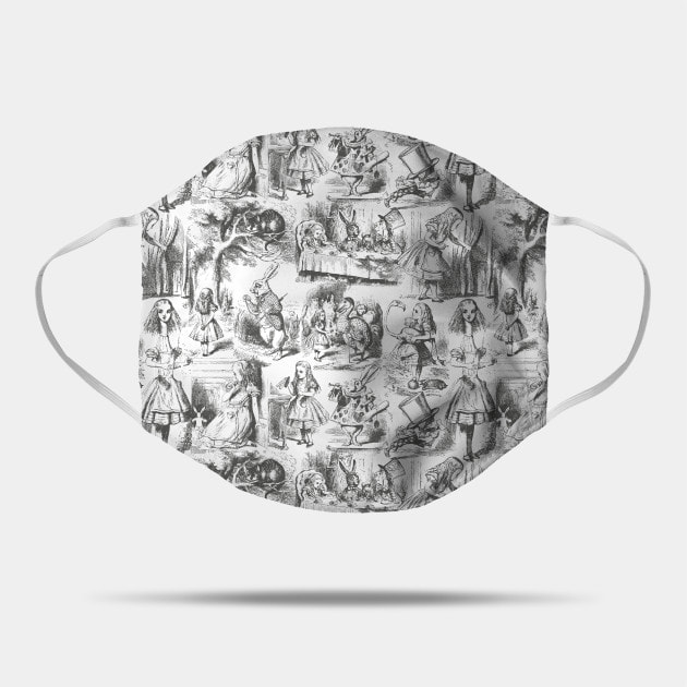Alice in Wonderland Toile de Jouy Pattern face mask by Eclectic at HeART