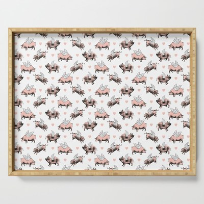 Vintage Flying Pigs serving tray by Eclectic at HeART