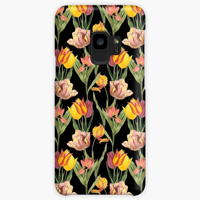 Vintage Floral Samsung Galaxy cases and skins by Eclectic at HeART