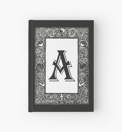 Monogram hardcover journals by Eclectic at HeART