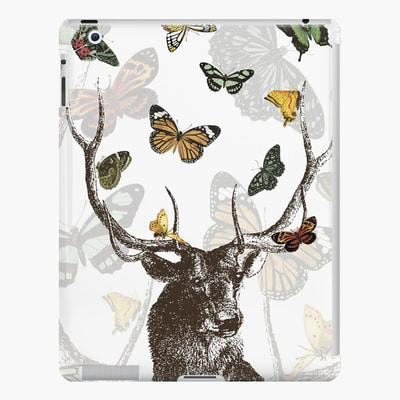 Stag and Butterflies ipad cases and skins by Eclectic at HeART