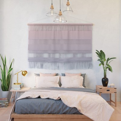 Rose Quartz and Serenity fabric wall hanging by Eclectic at HeART