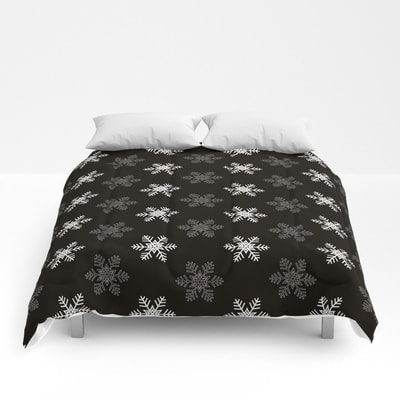 Snowflake Pattern comforters by Eclectic at HeART