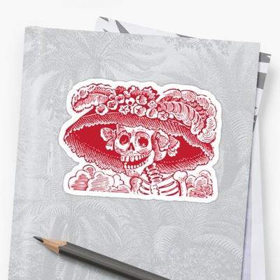 Calavera Catrina stickers from Eclectic at HeART