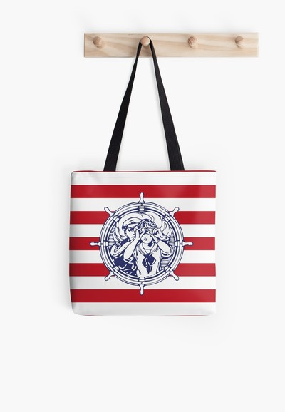 Sail Away With Me tote bag by Eclectic at HeART