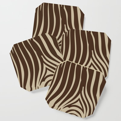 Zebra Print coasters by Eclectic at HeART