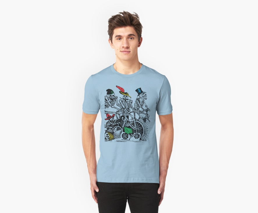 Calavera Cyclists T Shirt by Eclectic at HeART
