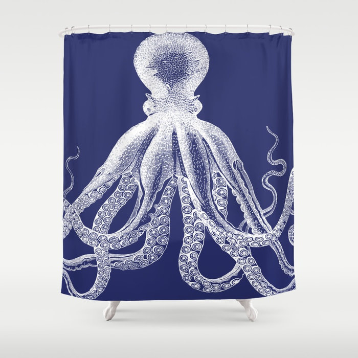 Octopus Shower Curtain by Eclectic at HeART