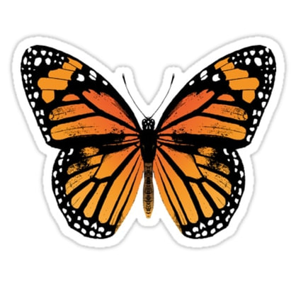 Monarch Butterfly Sticker by Eclectic at HeART